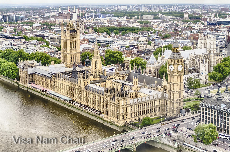 Hồ sơ visa công tác Anh